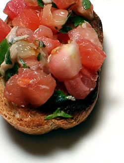 Turn Ripe Tomatoes into Bruschetta