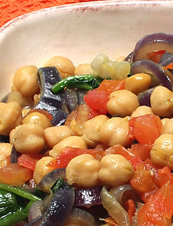 Savory Chickpea Stew with Spinach and Lemon