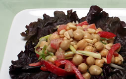 Chickpea, Pepper and Pine Nut Salad