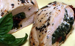 Easy to Prepare Mediterranean Chicken Breasts Stuffed with Spinach