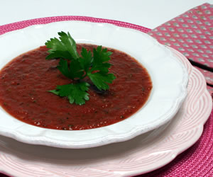 Chilled Roasted Tomato Soup