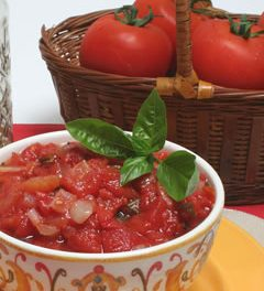 Fresh Tomato Sauce Makes the Meal