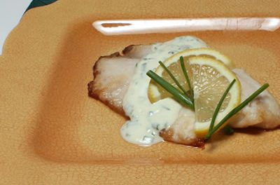 Tilapia with Mustard-Yogurt Sauce