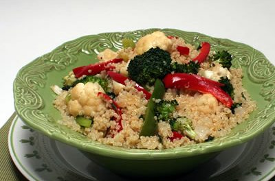 Earthy Garden Flavor with Quinoa and Fresh Veggies
