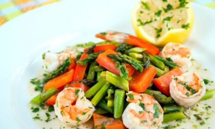 Springtime Asparagus with Lemon Garlic Shrimp