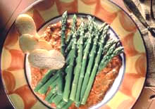 Asparagus with Red Pepper Sauce - Diabetic Gourmet Magazine