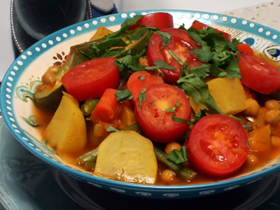 A Colorful Seven-Vegetable Moroccan Stew