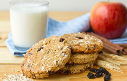 Apple Oatmeal Raisin Cookies
