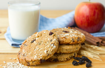 Apple Oatmeal Raisin Cookies Recipe Photo - Diabetic Gourmet Magazine Recipes