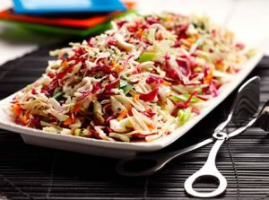 Asian Sesame Slaw recipe photo from the Diabetic Gourmet Magazine diabetic recipes archive.
