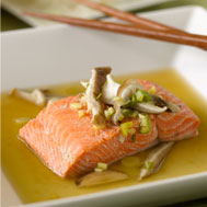 Asian-Style Steamed Salmon Recipe Photo - Diabetic Gourmet Magazine Recipes