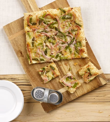 Asparagus and Cracked Pepper Turkey Tart Recipe Photo - Diabetic Gourmet Magazine Recipes