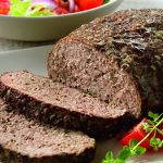 Athenian Meatloaf with Yogurt-Cucumber Sauce
