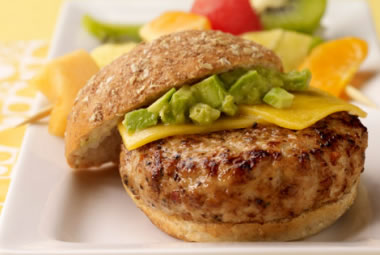 Avocado Turkey Burger Recipe Photo - Diabetic Gourmet Magazine Recipes