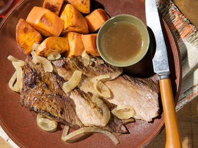 Beef Brisket with Horseradish Sauce Recipe Photo - Diabetic Gourmet Magazine Recipes