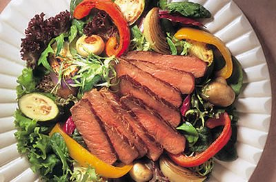 Beef Steak and Roasted Vegetable Salad
