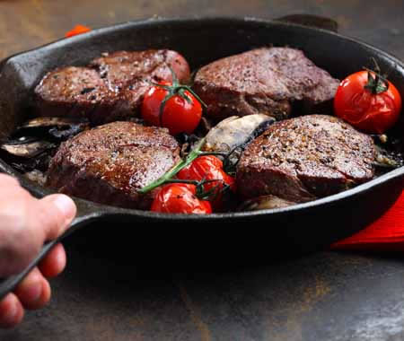 Beef Tenderloin with Balsamic-Coffee Sauce Recipe Photo - Diabetic Gourmet Magazine Recipes