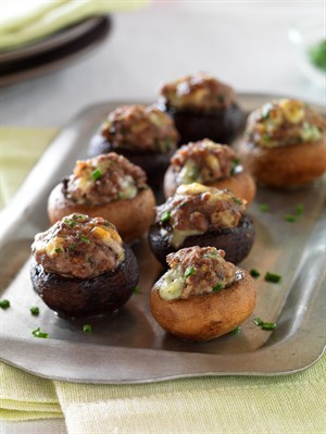 Beef and Blue Cheese Stuffed Mushrooms Recipe Photo - Diabetic Gourmet Magazine Recipes