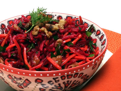 Beet, Carrot and Apple Salad Recipe Photo - Diabetic Gourmet Magazine Recipes