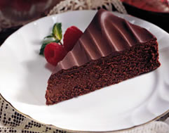 Bittersweet Chocolate Torte Recipe Photo - Diabetic Gourmet Magazine Recipes