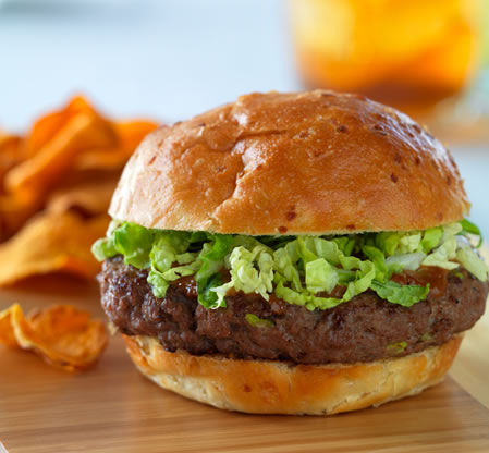 Bold Thai Burger Recipe Photo - Diabetic Gourmet Magazine Recipes