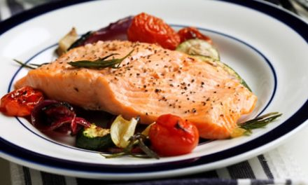 Broiled Rainbow Trout with Lemon Oil and Oven-Grilled Vegetables
