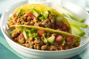 Buffalo Turkey Tacos recipe photo from the Diabetic Gourmet Magazine diabetic recipes archive.