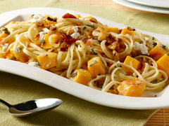 Butternut Squash and Linguine Recipe Photo - Diabetic Gourmet Magazine Recipes