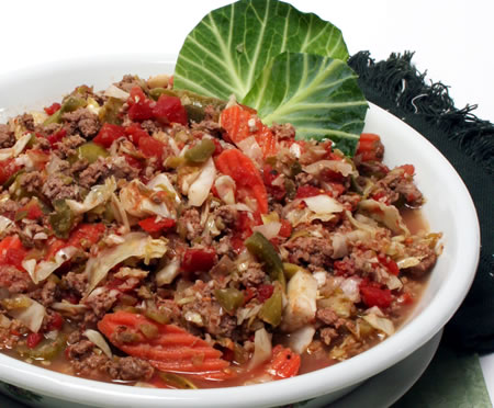 Cabbage and Turkey Ragout Recipe Photo - Diabetic Gourmet Magazine Recipes
