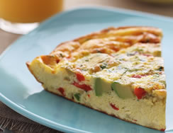 California Avocado Piquillo Pepper Frittata recipe photo from the Diabetic Gourmet Magazine diabetic recipes archive.