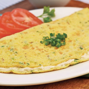 Cheesy Scallion Omelet Recipe Photo - Diabetic Gourmet Magazine Recipes