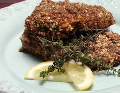 Chicken Crusted with Almond and Flax Recipe Photo - Diabetic Gourmet Magazine Recipes
