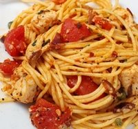 Chicken Puttanesca with Spaghetti Recipe Photo - Diabetic Gourmet Magazine Recipes