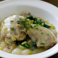 Chicken and Mushroom Fricassee Recipe Photo - Diabetic Gourmet Magazine Recipes
