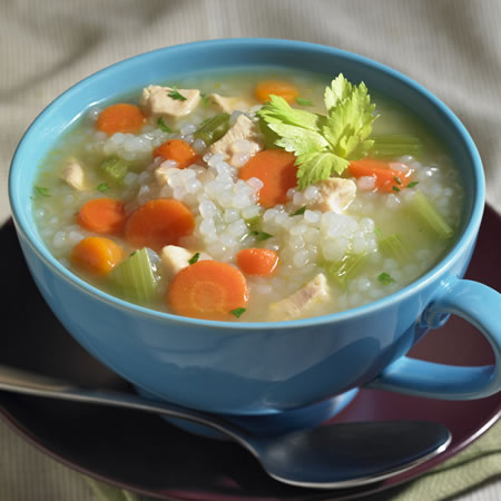 Chicken and Skinny Rice Soup Recipe Photo - Diabetic Gourmet Magazine Recipes