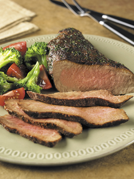 Chili-Crusted Tri-Tip Roast Recipe Photo - Diabetic Gourmet Magazine Recipes