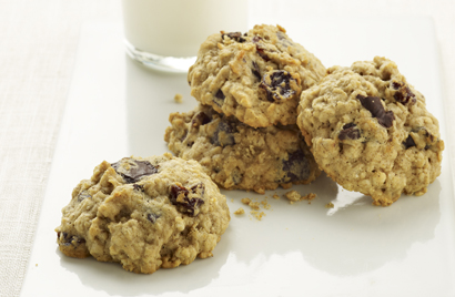 Chocolate Cherry Oatmeal Cookies Recipe Photo - Diabetic Gourmet Magazine Recipes