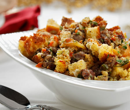 Cornbread and Dried Fruit Dressing Recipe Photo - Diabetic Gourmet Magazine Recipes