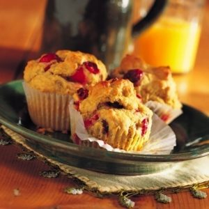 Cranberry Walnut Muffins recipe photo from the Diabetic Gourmet Magazine diabetic recipes archive.