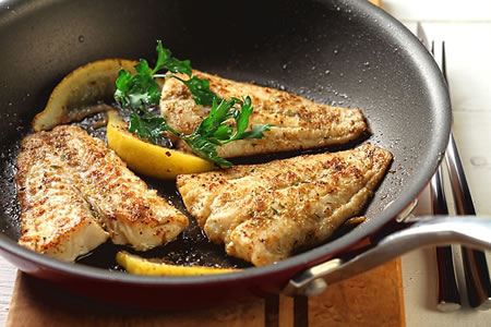 Cumin-Crusted Fish Fillet with Lemon Recipe Photo - Diabetic Gourmet Magazine Recipes