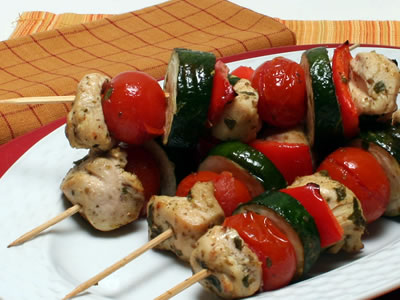 Cypriot Chicken Kebabs Recipe Photo - Diabetic Gourmet Magazine Recipes