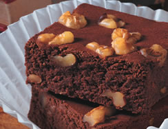Double Chocolate Brownies Recipe Photo - Diabetic Gourmet Magazine Recipes