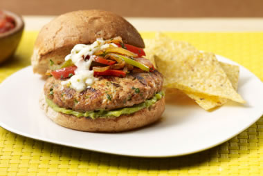 Fajita Turkey Burger Recipe Photo - Diabetic Gourmet Magazine Recipes