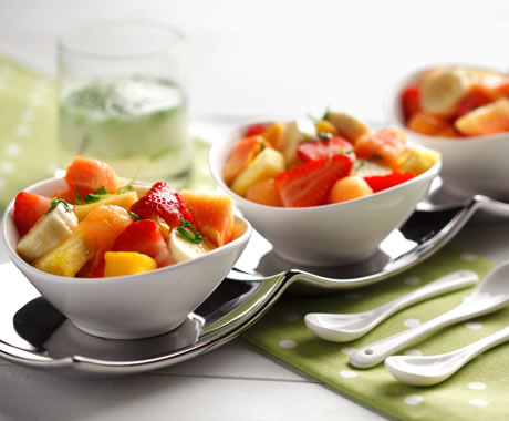 Fruit Salad with Mojito Dressing Recipe Photo - Diabetic Gourmet Magazine Recipes