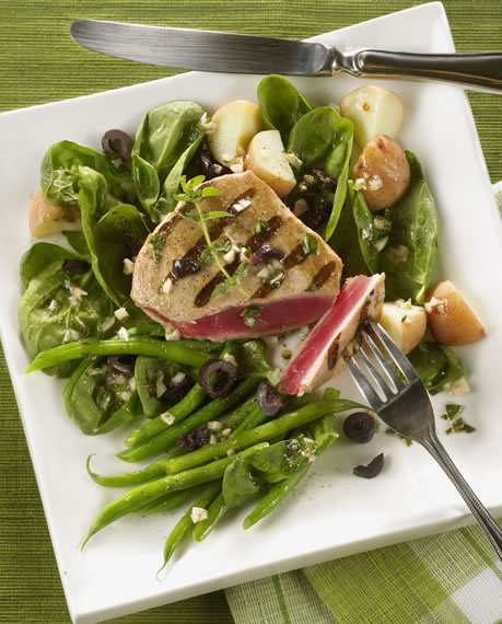 Grilled Tuna Nicoise Salad Recipe Photo - Diabetic Gourmet Magazine Recipes