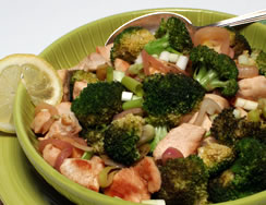 Lemon Chicken with Broccoli and Ginger