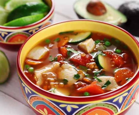 Mexican Chicken Soup Recipe Photo - Diabetic Gourmet Magazine Recipes