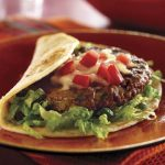 Mexican Fiesta Burgers Con Queso recipe photo from the Diabetic Gourmet Magazine diabetic recipes archive.