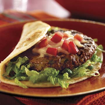 Mexican Fiesta Burgers Con Queso Recipe Photo - Diabetic Gourmet Magazine Recipes