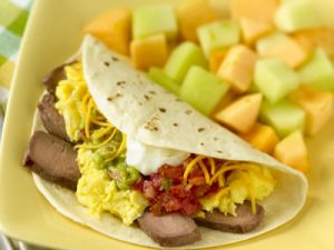 Mexican-Style Steak and Eggs Breakfast recipe photo from the Diabetic Gourmet Magazine diabetic recipes archive.